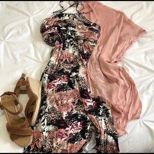 Tops - LAST ONE Blush Pink Boho Kimono Wrap 0X